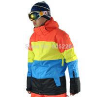 [Diamonds] Free Shipping!! 2014.11.16 NEWS Gsou snow men 10K Waterproof SKI JKT Snowboard Coat /SKI JACKETS Leopard: S-XL
