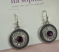 Rhinestone Dangle Earrings ls