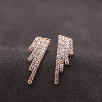 Top Luxury  18K gold plated Four Zircon Angel Wing  Wedding Stud Earrings Fashion jewelry nickel free ,Best gift  free shipping