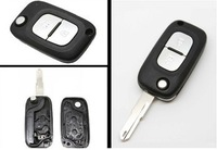free shipping Replacement Remote auto car Key Case or shell For Renault Clio Kangoo Megane Modus with Fob 2BTN Uncut Key Blade