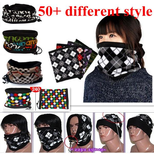 Hot ! Fashion Design Winter Neck Warmer Gator Gaiter Bandana Scarf Head Wrap 100% Fleece/Scarves.Free Shipping.(200-219)(China (Mainland))