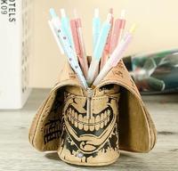 Cartoon Tokyo ghouls Creative Stationery School supplies Pencil Bag Cosmetic PU Leather Pencil case storage bag