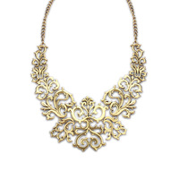 new brand design fashion woman sell well 18K gold necklace retro palace openwork lace totem necklace 101036