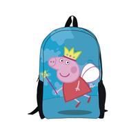 Peppa pig pig Pepe 2014 new students travel large capacity shoulder bag backpack schoolbag child cartoon