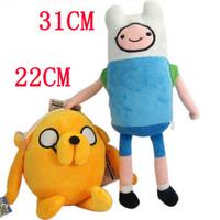 Anime Adventure Time Finn Jake Plush Doll 11 inch figure Stuffed animals Movice Cartoon Toy Anime plush Free Shipping 2Pcs/Lot