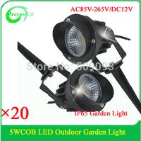 Hanks Newest COB Garden Light 5W Lawn Light COB Spotlight for outdoor decoration