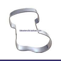 Stainless steel cookie cutters cake mold cartoon of Santa Claus gift socks die cutting dies,HMC072