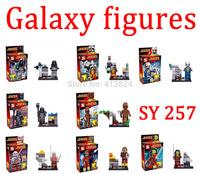 SY257 8pcs/lot Guardians of the Galaxy figures Rocket raccoon ronan/camora/star lord/Groot Building Block Toys toy bricks