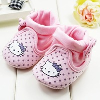 6 pairs/lot 2014 sweet pink baby socks shoes with bow soft sole toddler non-slip pre-walker footwear 11/12/13cm