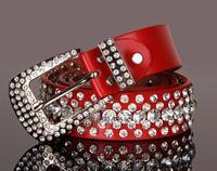 drop shipping Fashion all-match Women belt women's genuine leather cowhide rhinestone full rhinestone strap with diamond