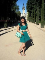 AC521 cozy casual floral Waterproof Nylon  women lady girl bag Shopper Tote bag handbag Green PINK