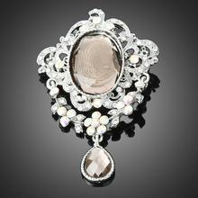 Three Color Drop Rhinestone Crystal Vintage Brooch Pins,Fashion Broach BT3984