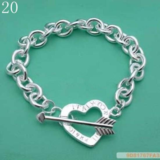 Brand jewelry love bracelets 925 sterling silver chain bracelet best friends Free shipping Wholesale prata bracelete