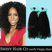 1 Bundle Peruvian Virgin Hair Kinky Curly Natural Black 6A Unprocessed Human Hair Weave Grace Hair Products Modern Show Hair
