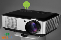 top quality low cost 1280x800pixels  2HDMI 2 USB built-in android LED HD 1080p home cinema multimedia projector