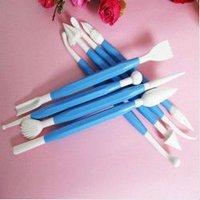 free shipping blue 8pcs /1set flower cutter fondant cake tools decorating Sugarcraft modelling mold tool kitchen kitchenware