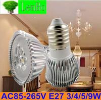 Free Express Shipping 100pcs/lot Spot light 220V E27 3W 4W 5W 9W Dimmable High Power spotlight LEDtubes bulb lamps LS73
