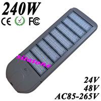 Free shipping sale 240W led street light AC85-265V DC24V DC48V IP65 130-140LM/W LED 240*1w led street light 3 years warranty
