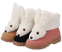 Women's Fox Fur flat Snow Boots