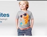 6set/lot wholesale character brand short sleeve kids tshirt pants 2pcs set boy clothes ,summer child clothes set