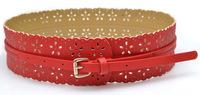 2014 New Women's Belts Wide belt female flower dress hollow female wide belt belt girdle Wholesales