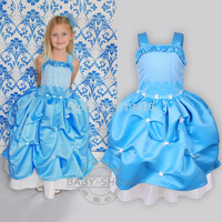 New Arrival Girl Models Harness Puff Girls Summer Dress Flower Girl Dresses Size 100-140 100pcs/Lot In Stock DHL Free Shipping