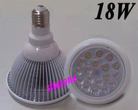 50PCS free shipping sale AC85-265V PAR38 18W LED spotlight 1980lm E27 B22 18*1W led bulb lamp light 2 year warranty