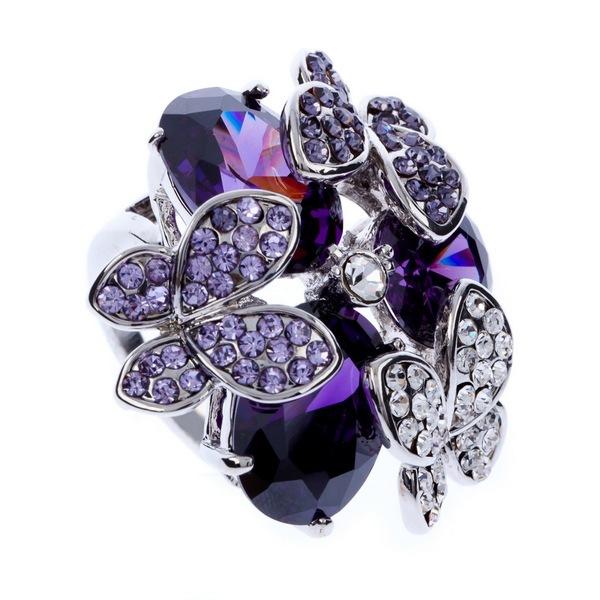 The Gorgeous Noble o Ring o creative luxury romantic butterfly egg shape zircon rhinestone high grade