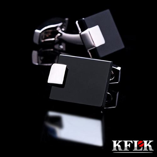 Kflk luxo 2014 HOT shirt abotoaduras para mens marca botões de punho ligação preto gemelos de alta qualidade abotoaduras jóias(China (Mainland))