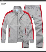 2014 New Autumn Sportswear Fashion Men's Casual Sports Suit Tracksuit Man Coat Jacket + Pants Male Sweatshirts Sets Plus size(China (Mainland))