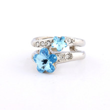 The Gorgeous Noble o Ring o creative luxury romantic personality wintersweet crystals high grade rings for men women R441