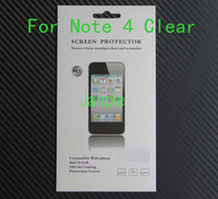 2000 Sets Clear Guard Film For Samsung Galaxy Note 4 N9100 Crystal Screen Protector With Retail Package