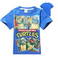 Wholesale Teenage Mutant Ninja Turtles 2014 Cartoon Boys short sleeve T Shirts Kids Tops Tees Summer Children Clothing 5pcs