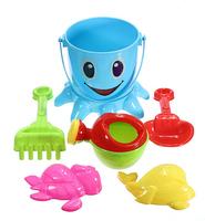 Hot Sale 7 Pcs/set Baby Kids Octopus Bucket Spade Rake Pot Sand Water Seaside Beach Tools Toy