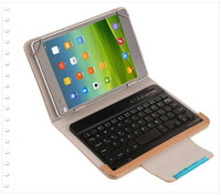 "Stand Luxury Folio Leather Case Cover + Wireless Bluetooth Keyboard For 7.85"" Oysters T80 3G effire CityNight D8 Tablet"