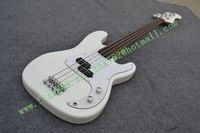 free shipping new fretless electric bass guitar in white +foam box F-1899