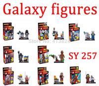 Guardians of the Galaxy figures Rocket raccoon ronan/camora/star lord/Groot Building Block Toys toy bricks SY257 8pcs/lot