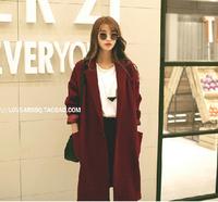 Greedis  Good 2014 women coat Wool & Blends autumn winter trench coat outwear  fashion new free shipping Y20