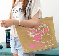 ANIMAL CUTE CAT BAGS OF CANVAS  HANDBAGS MESSAGE  BAGS CANVAS WOMEN  TOTE FREE SHIPPING THE SIZE: (43*32*10)cm HB01