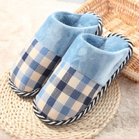 High quality 2014 men's house slippers shoes winter home shoes for women indoor cotton slippers foot warmer 5 colors