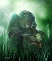Visionary Art handmade decorative painting on canvas home decoration living room Inkjet orangutan animal pictures