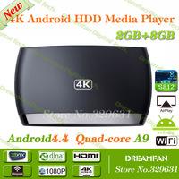 Android TV Box Amlogic S812-H Quad Core 2GHz 2.4G/5G Dual Band WiFi 2G/8G Mali 450 GPU 4K*2K H.265 HDMI Receiver Free shipping