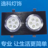 10W LED Ceiling Lighting LED grille lamp downlight power AC85-265V Black body 800-1000LM 2*5w led Spotlight for indoor lighting