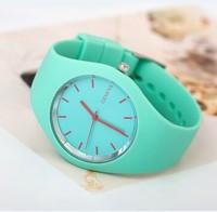 Hot sale 2014 Fashion Brand Geneva Silicone Men Sports Watches Women Wristwatches Christmas Gift Quartz Watch/clocks.Reloj