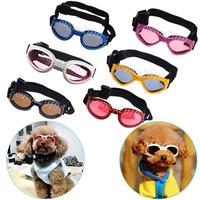 12PCS Wholesale 6 Color Cool Foldable Grooming Pet Dog Goggles UV Sunglasses Sun Glasses Eye Wear Dustproof Windproof Eyeweare
