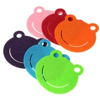 "6pcs High Quality Felt Coasters Colorful Lovely Shape Novelty Design Perfect Kitchen Decoration Home for Beer Drinks (3.9""x3.5"")"