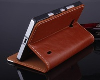 5PCS/Lot Crazy Horse Ultra-Thin Leather Case Cover For Nokia Lumia 930 929 with stand and card slot