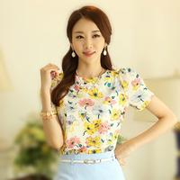 blusas femininas 2014 women blouses floral chiffon blouse tops