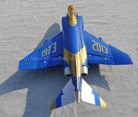 RTF Blue golden Version  /  RC F-4  jet plane /  70mm EDF  RTF  JET plane /  Ready To Fly