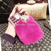 hot 3D new luxury rhinestone bling For Samsung galaxy Note3 Note2 S5 S4 S3 i9600 i9500 i930 N9000 diamond rabbit hair fox Case